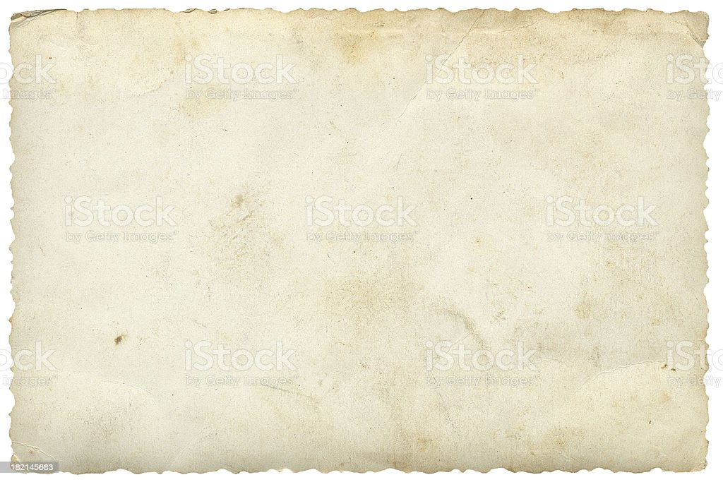 Blank Photo on White stock photo