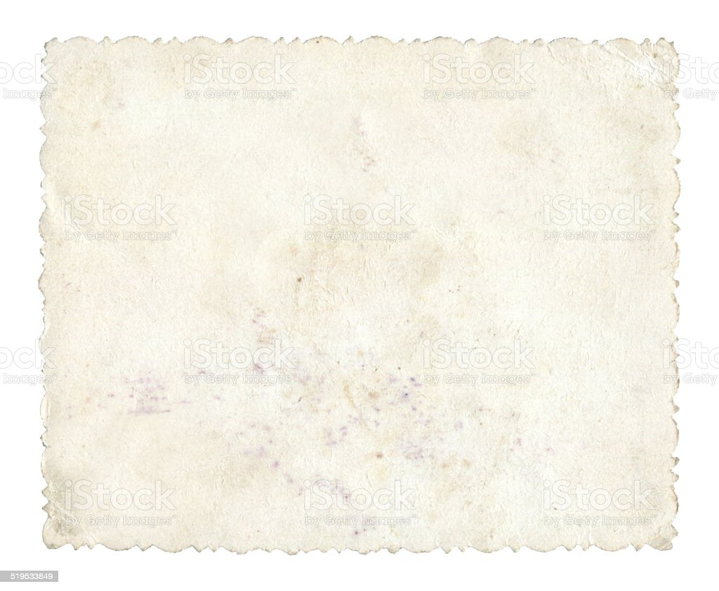 Blank photo paper background textured isolated stock photo