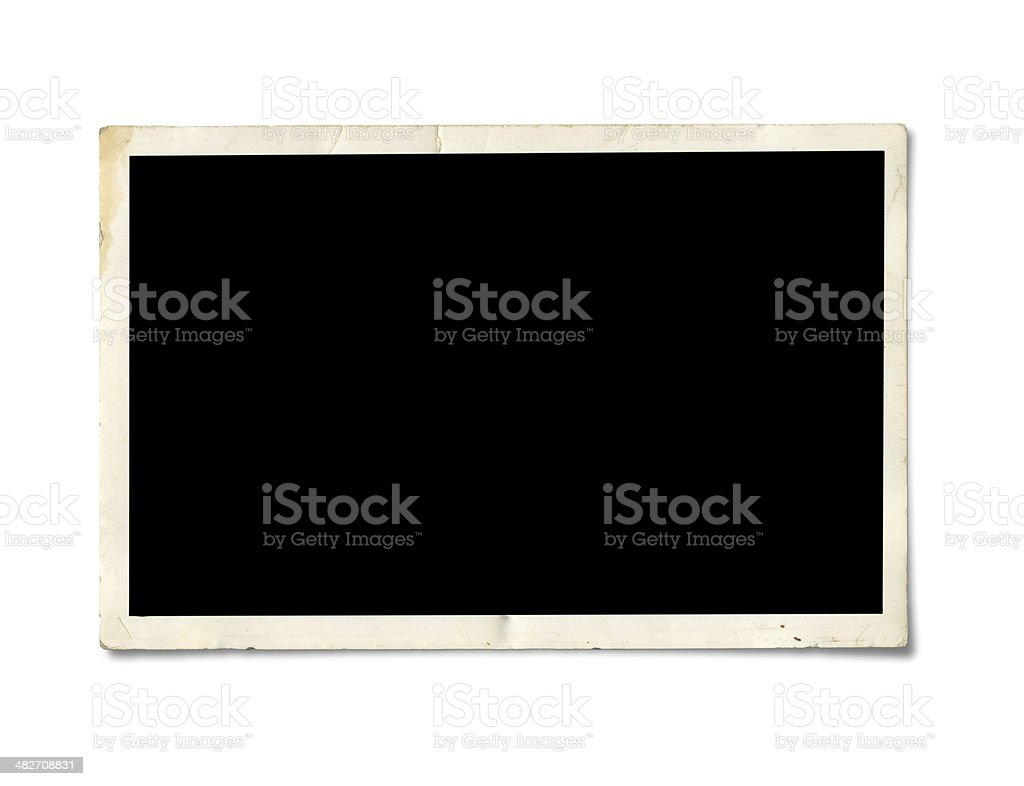 Blank photo paper royalty-free stock photo