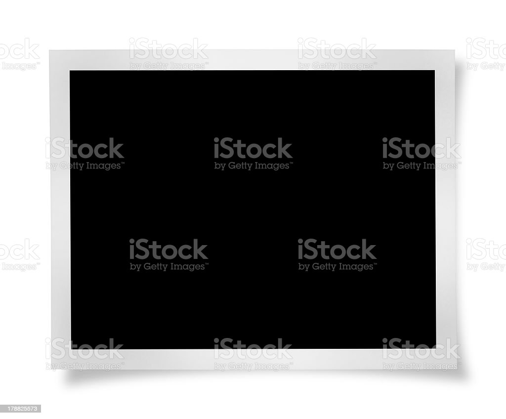 Blank Photo (Clipping Path) stock photo