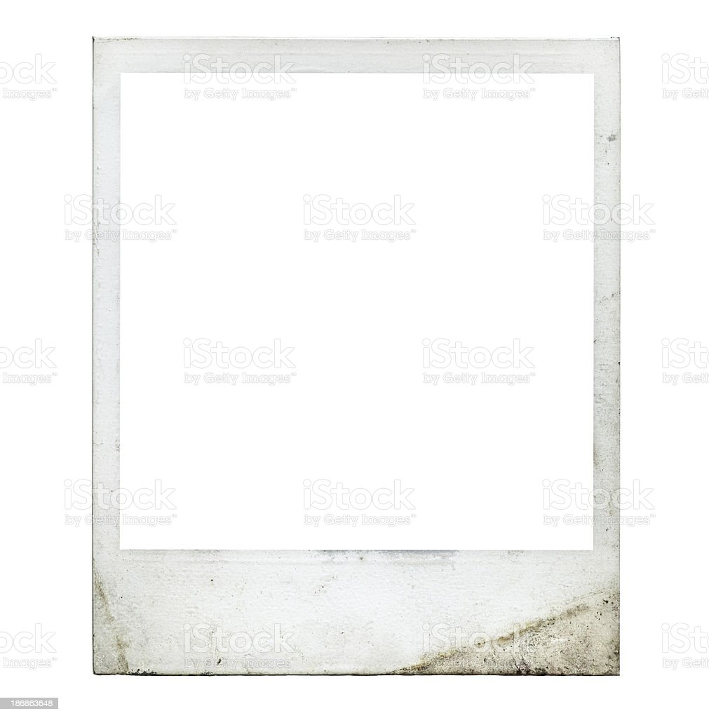 Blank photo (Authentic polaroid with lots of details) royalty-free stock photo
