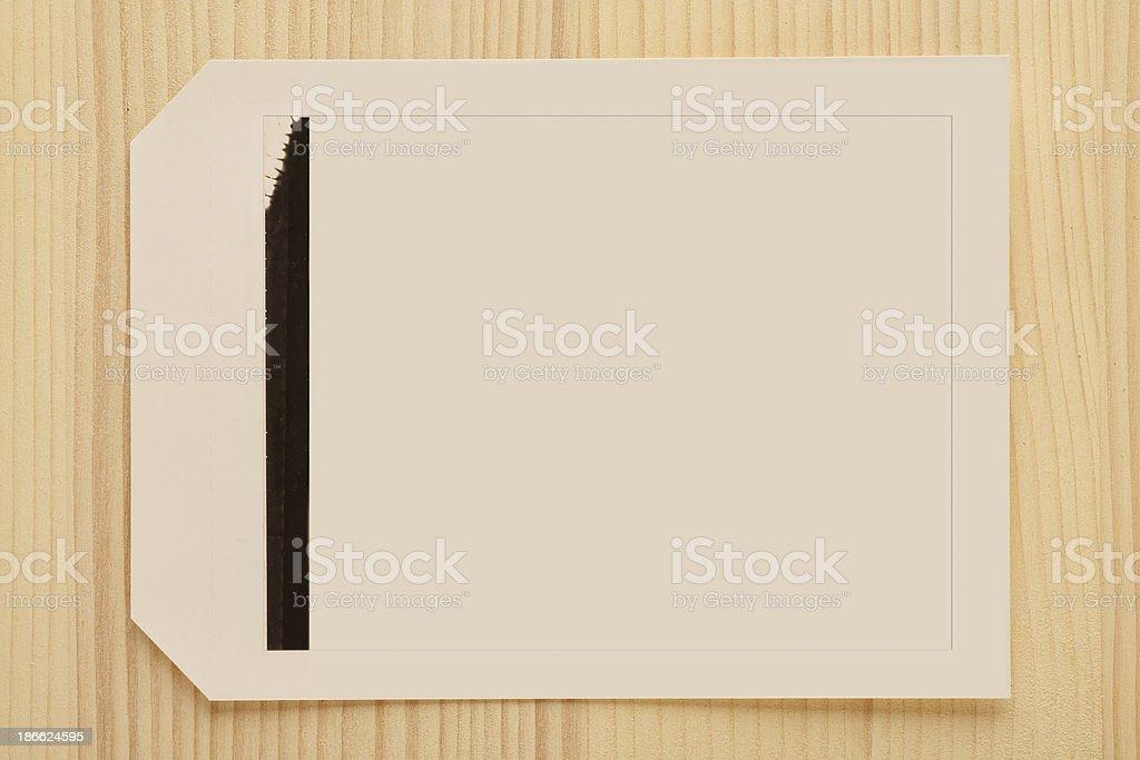 Blank photo - Polaroid royalty-free stock photo