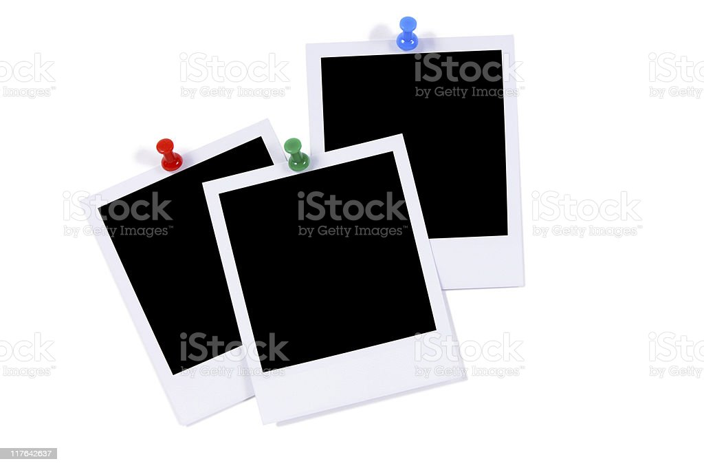 Blank photo prints stock photo
