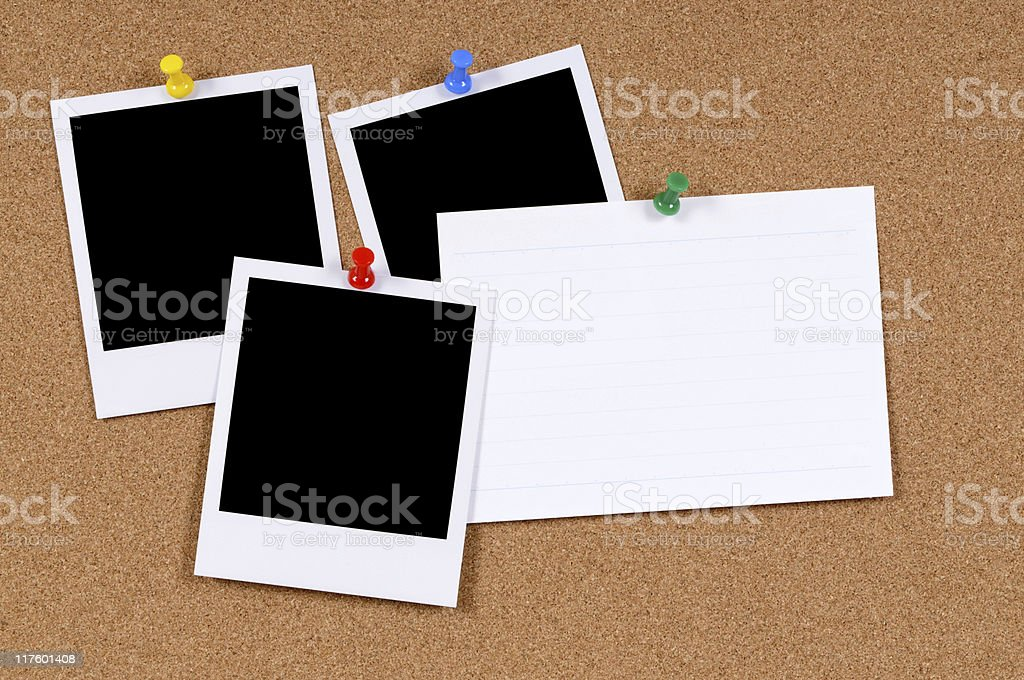 Blank photo prints with index card royalty-free stock photo