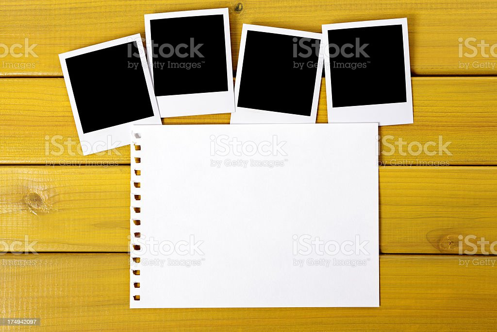 Blank photo prints with torn paper royalty-free stock photo