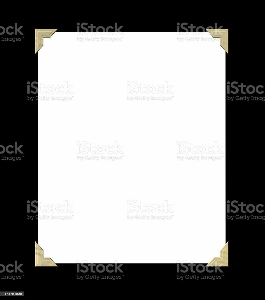 Blank photo with foil tabs stock photo