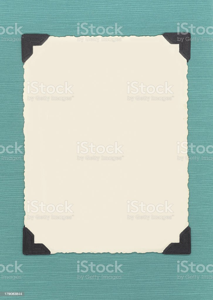 Blank Photo with Tabs royalty-free stock photo