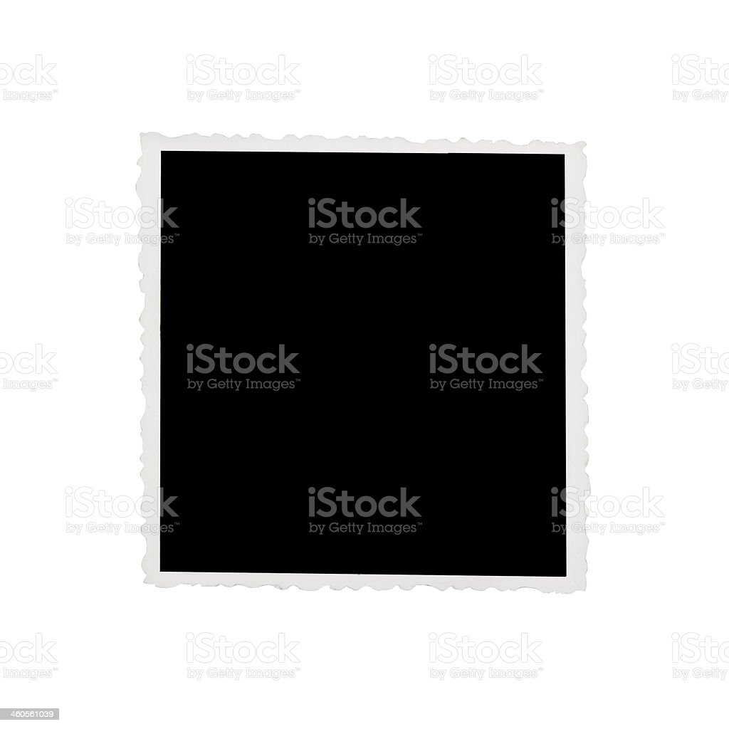 Blank photograph stock photo