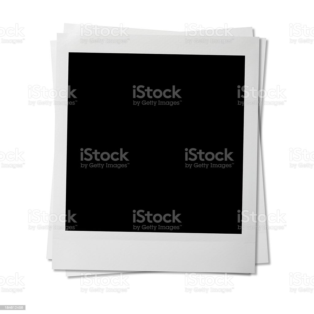 Blank photos royalty-free stock photo