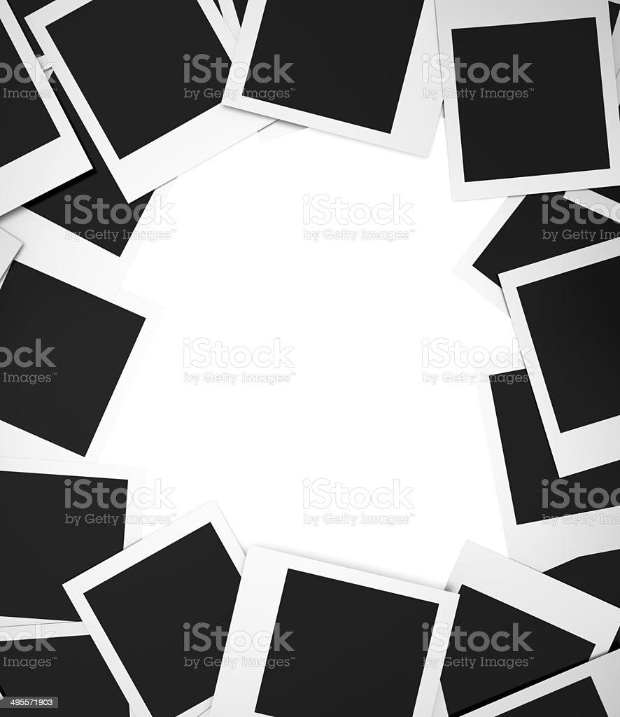 Blank photos stock photo