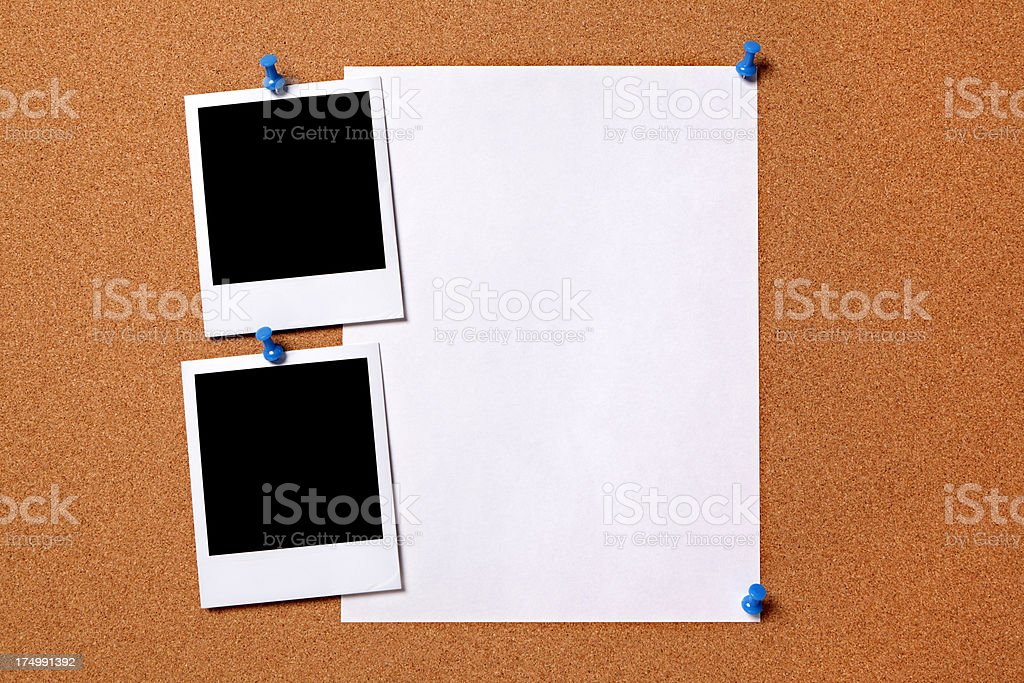 Blank photos with paper poster royalty-free stock photo