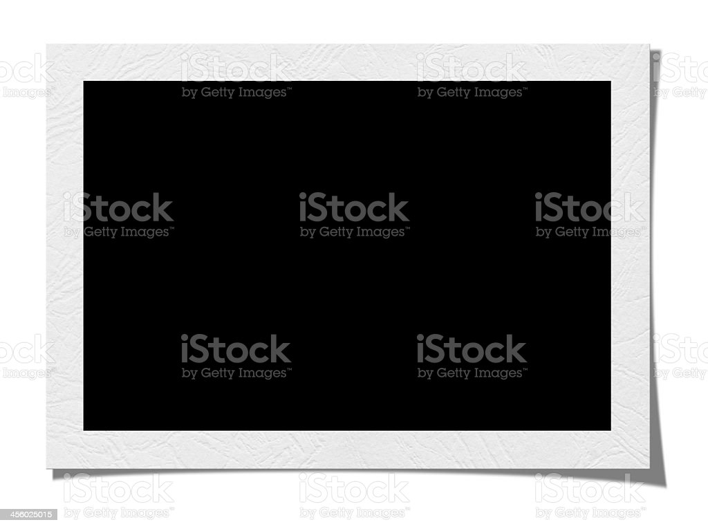 A blank picture frame and on a white background stock photo