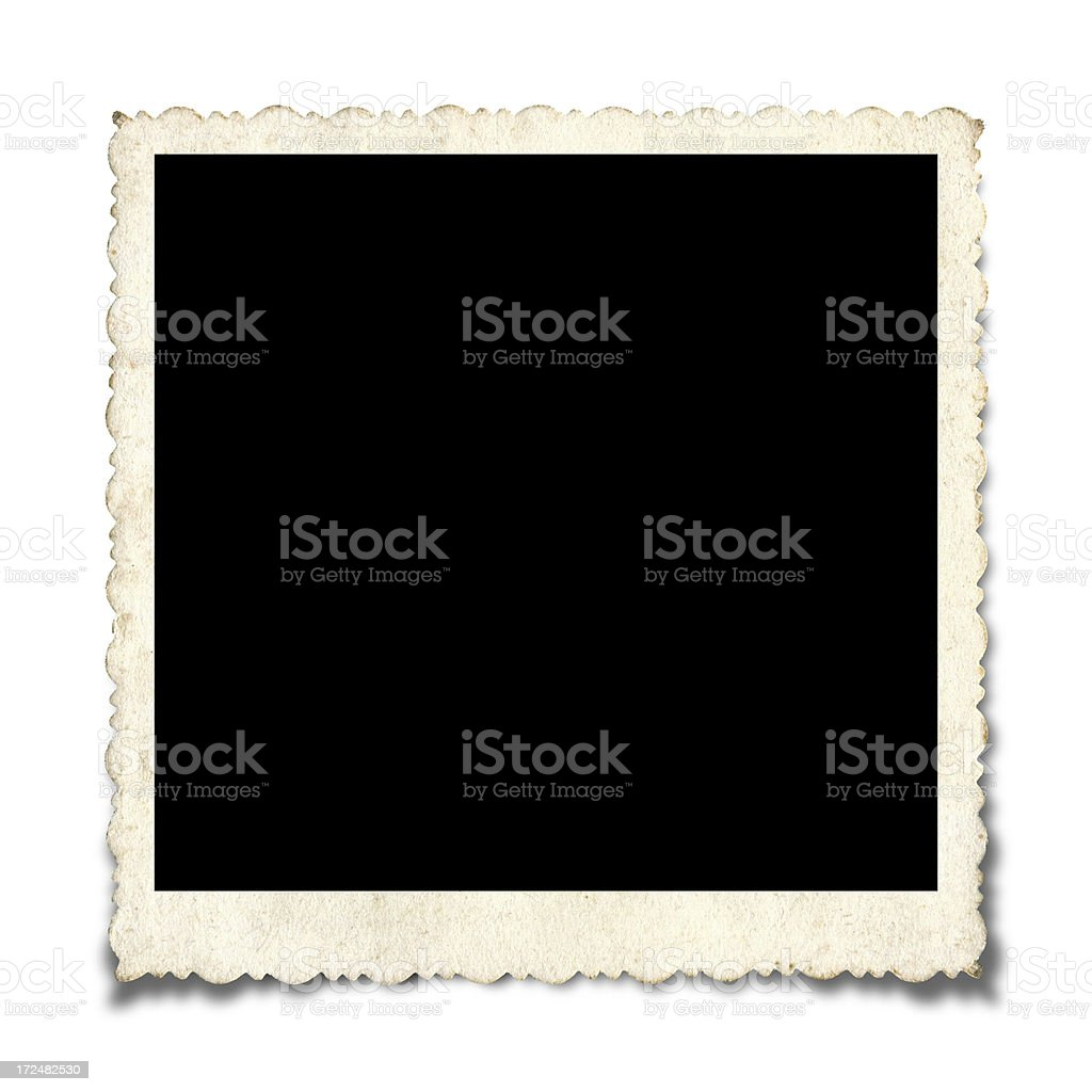 Blank Picture Frame paper textured background stock photo