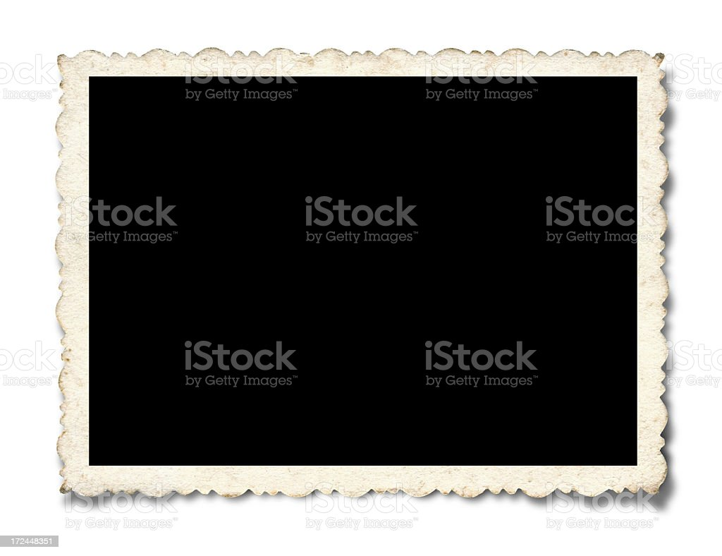 Blank Picture Frame (Clipping path!) stock photo