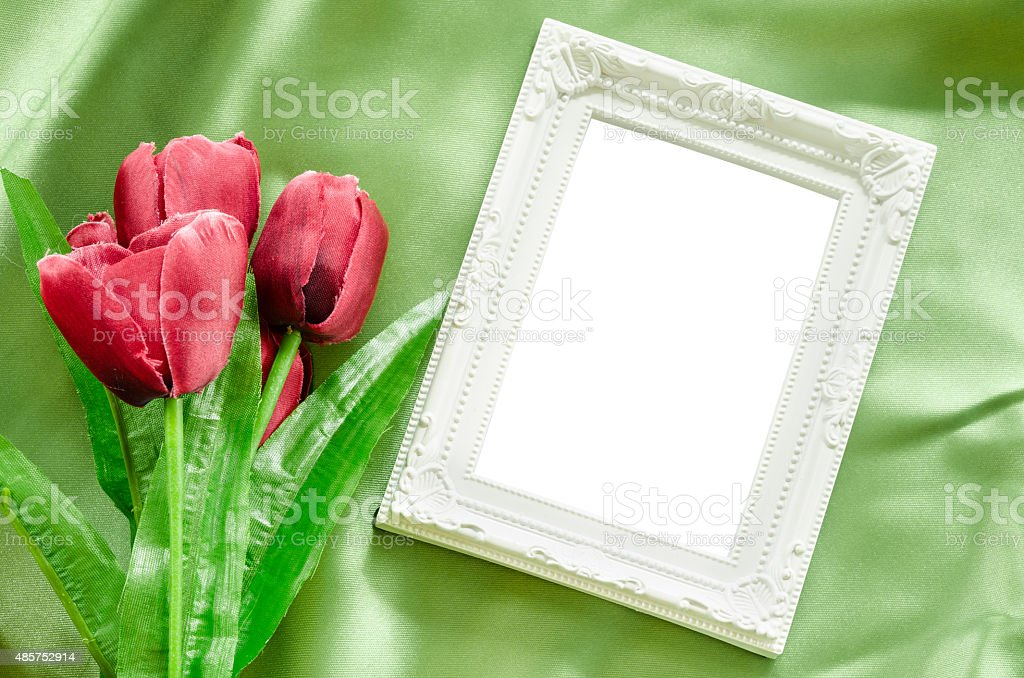 Blank Picture frames. stock photo