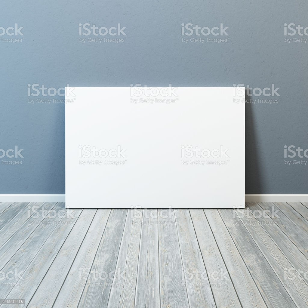 blank picture in the room stock photo