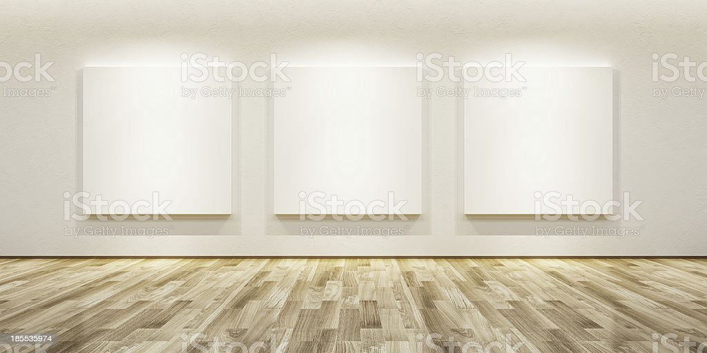 blank pictures in the gallery stock photo