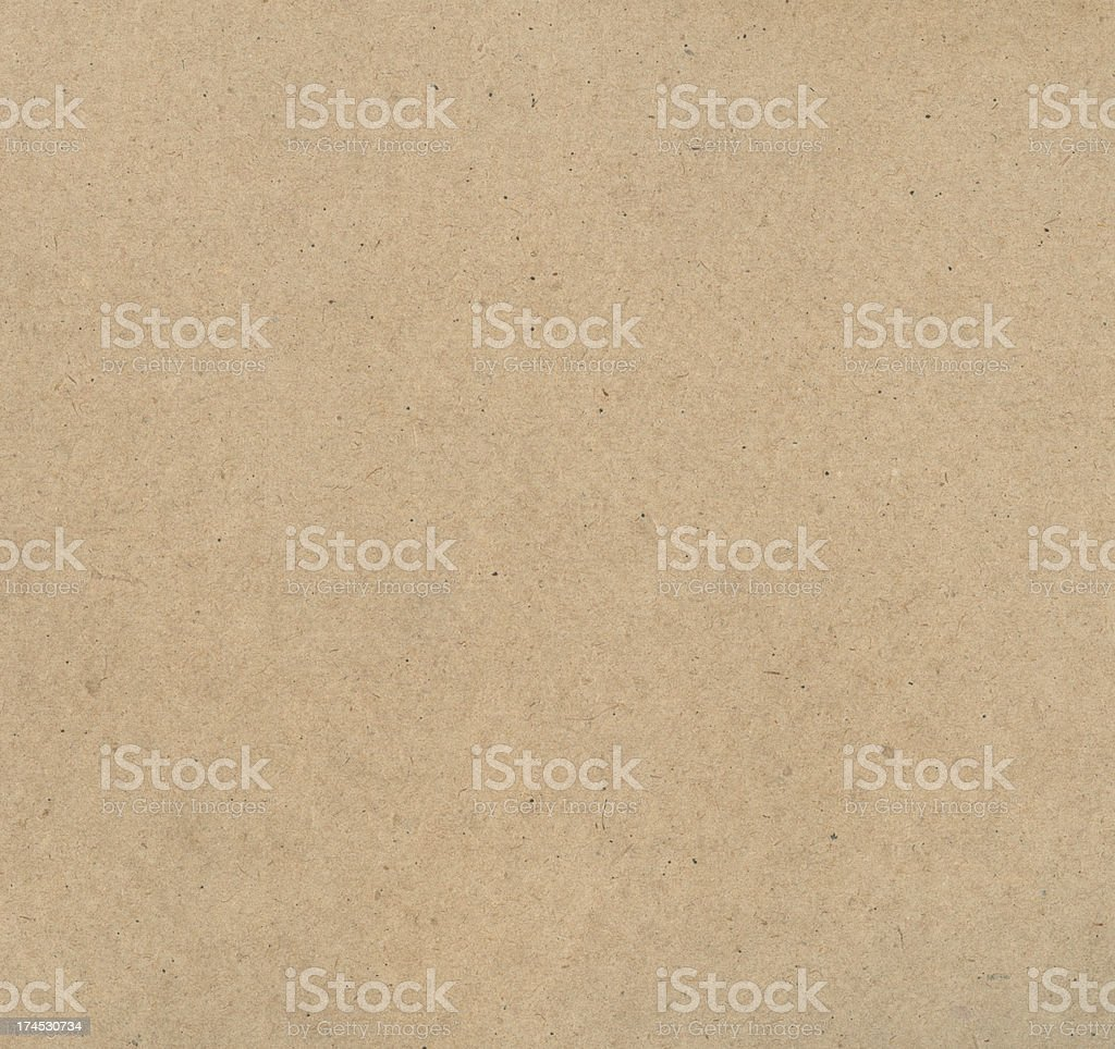 A blank piece of brown recycled paper stock photo