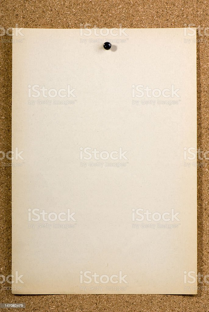 Blank pinned page royalty-free stock photo