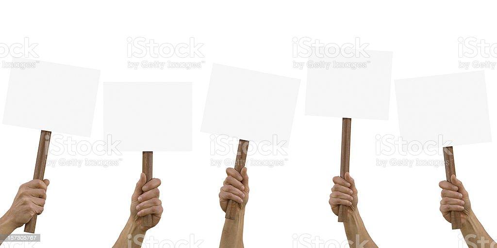 blank placard stock photo
