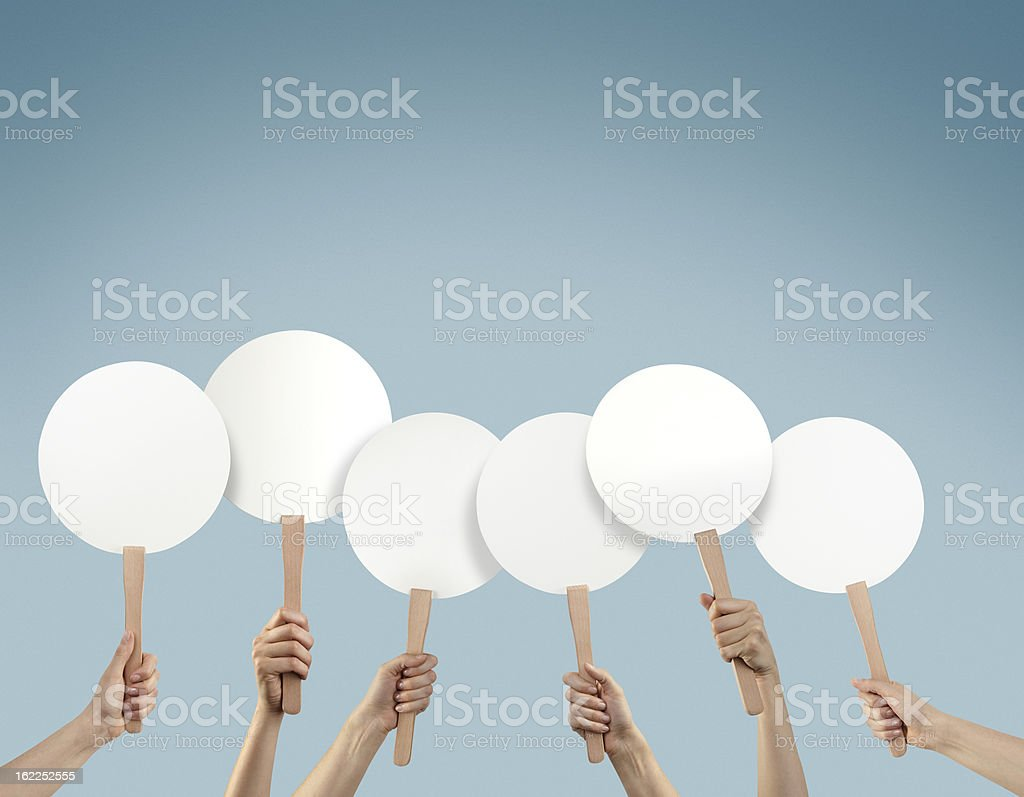 Blank Placards stock photo