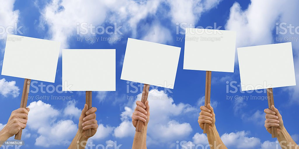 blank placards royalty-free stock photo