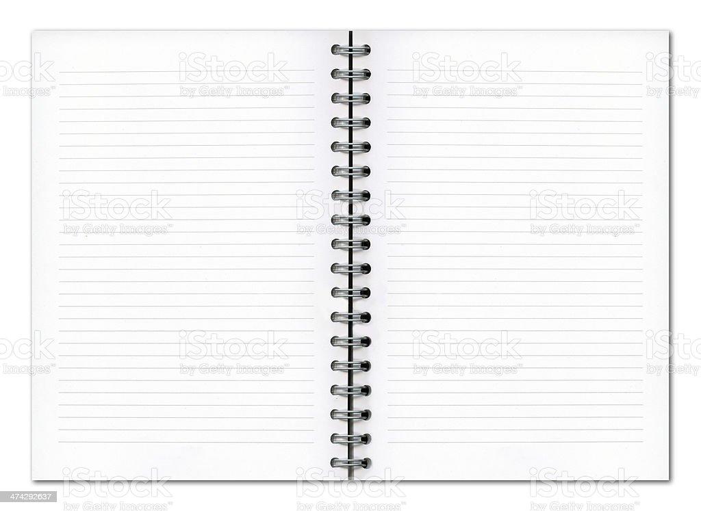 Blank planner book stock photo
