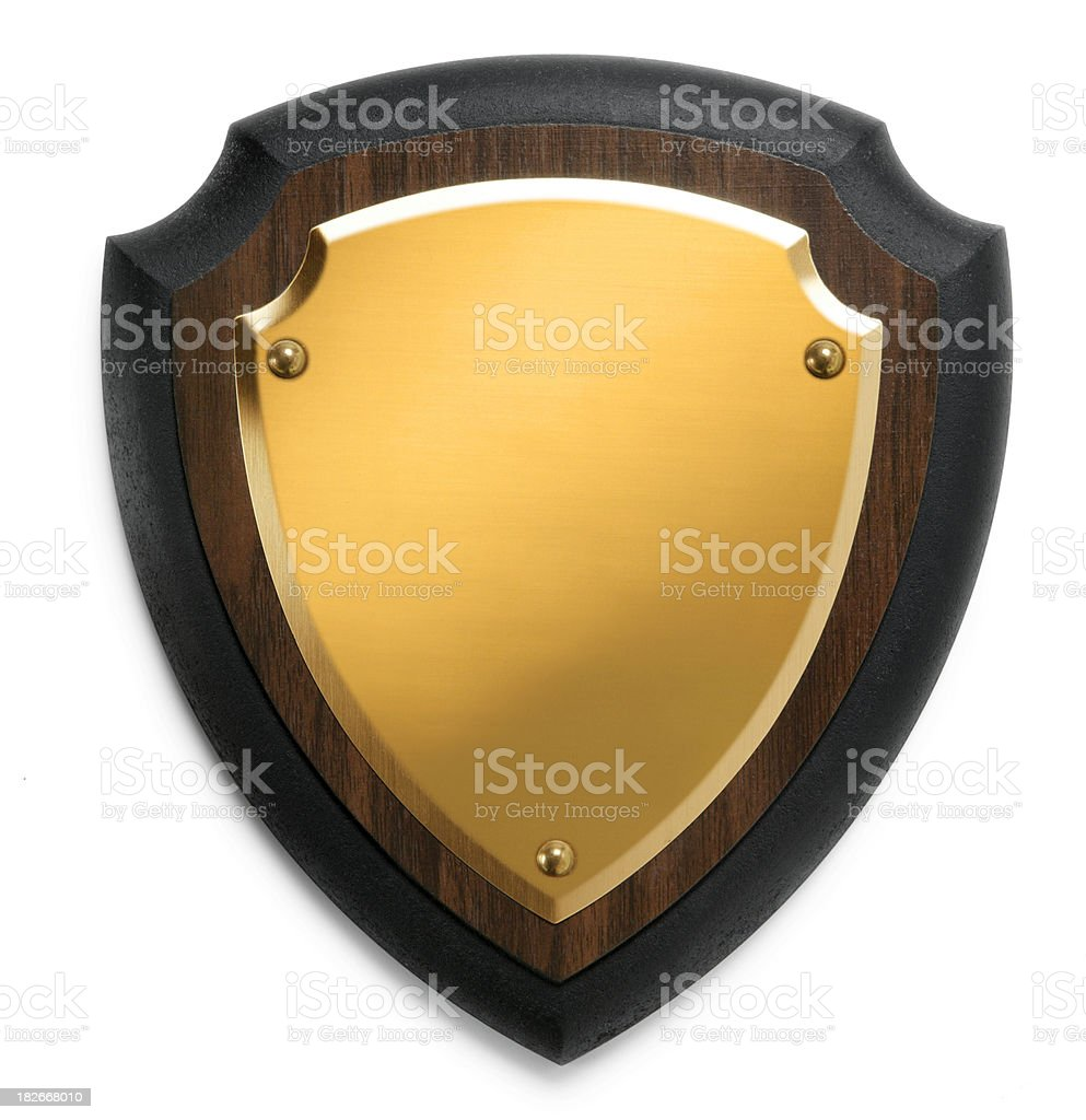 Blank plaque on whit background stock photo
