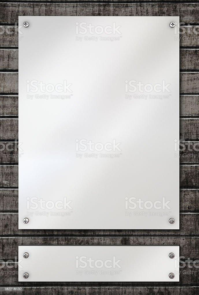 blank plaques stock photo