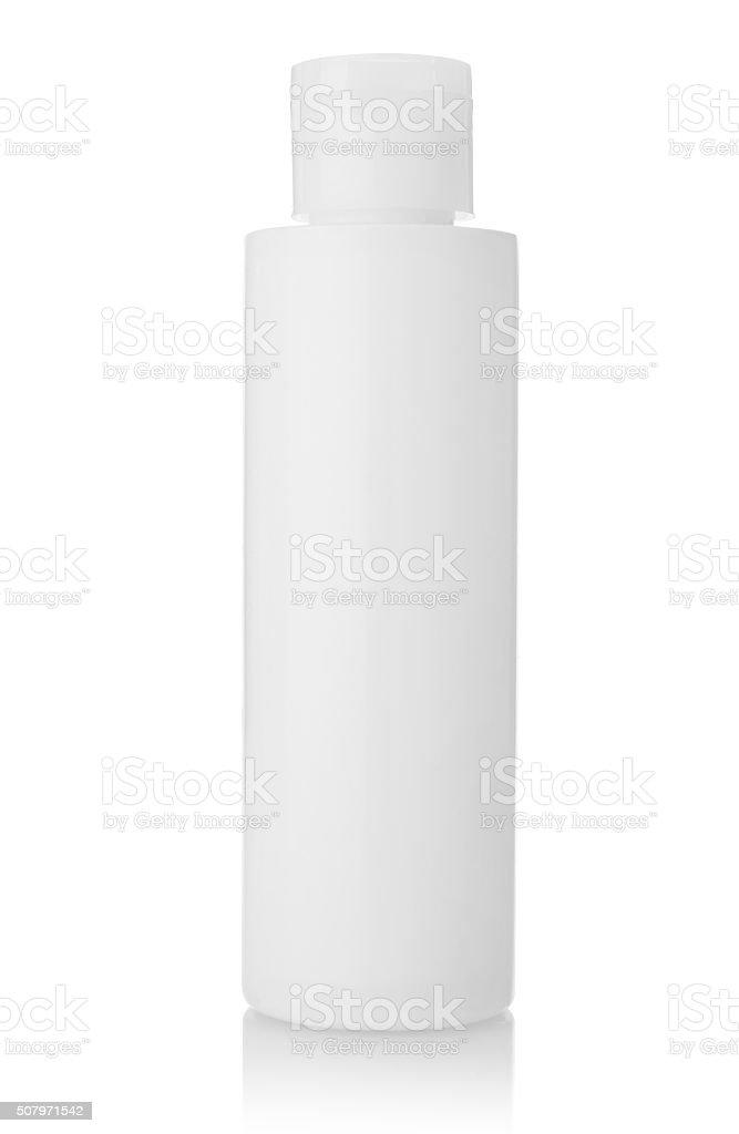 Blank plastic bottle stock photo