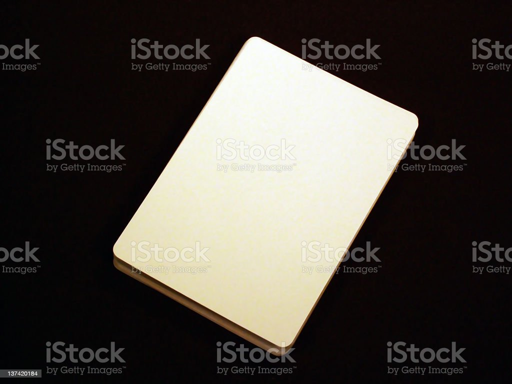 Blank Playing card royalty-free stock photo
