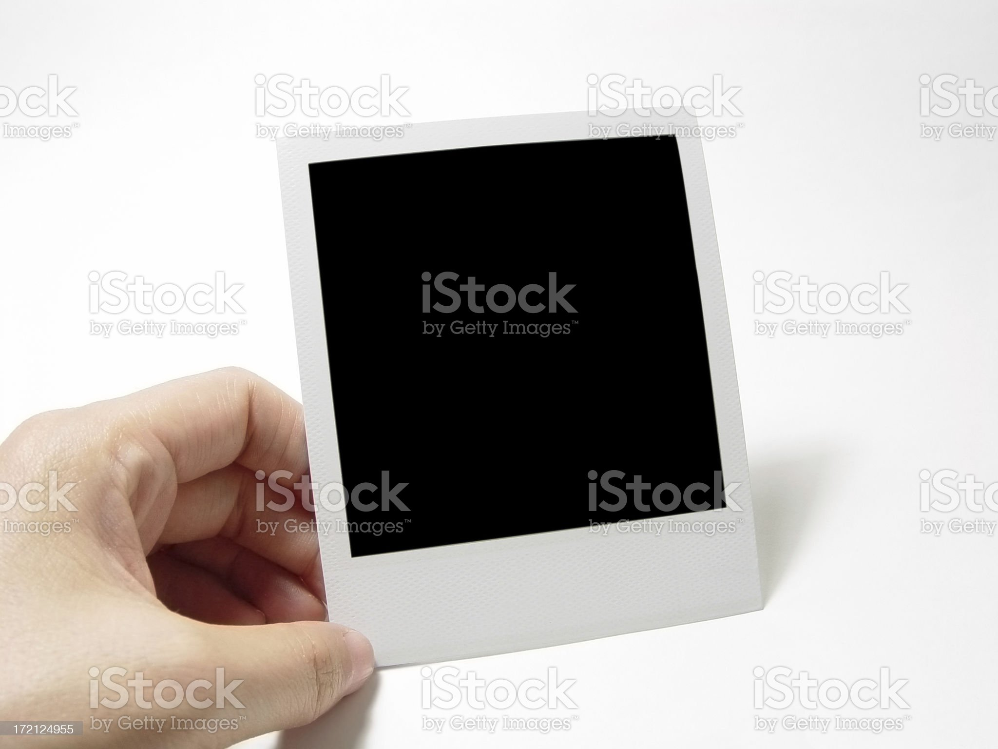 Blank polaroid frame. royalty-free stock photo