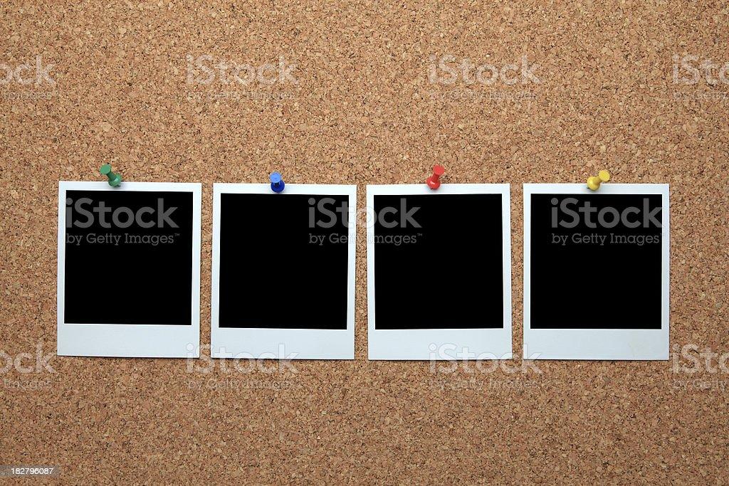 Blank polaroid photo frame royalty-free stock photo