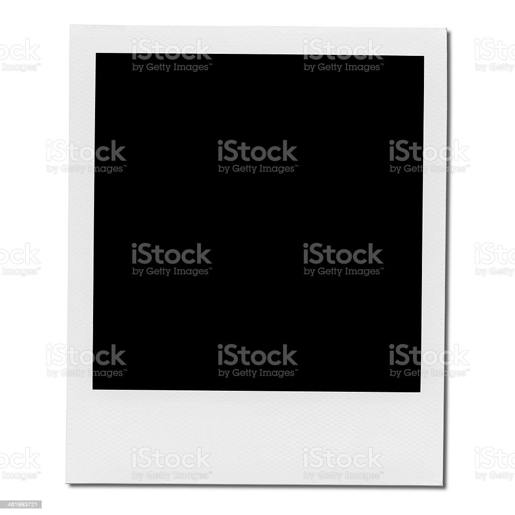 XXXL - Blank Polaroid Photo Frame. stock photo