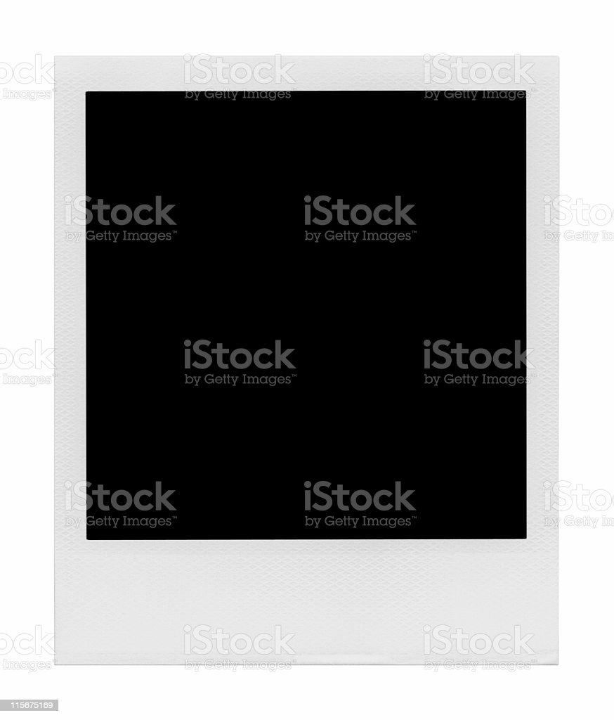 Blank Polaroid photo on white background royalty-free stock photo