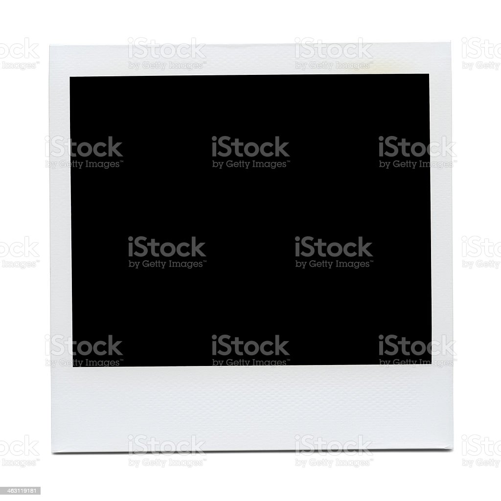 XXXL - Blank Polaroid Photo stock photo