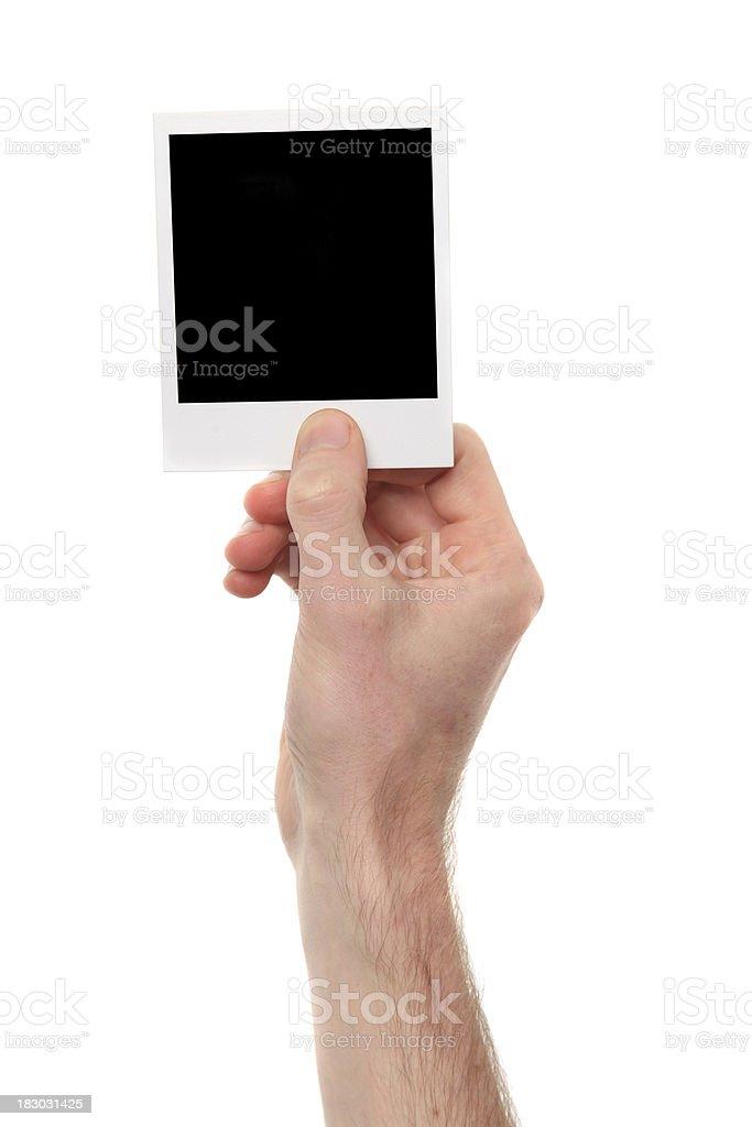 Blank polaroid photograph royalty-free stock photo