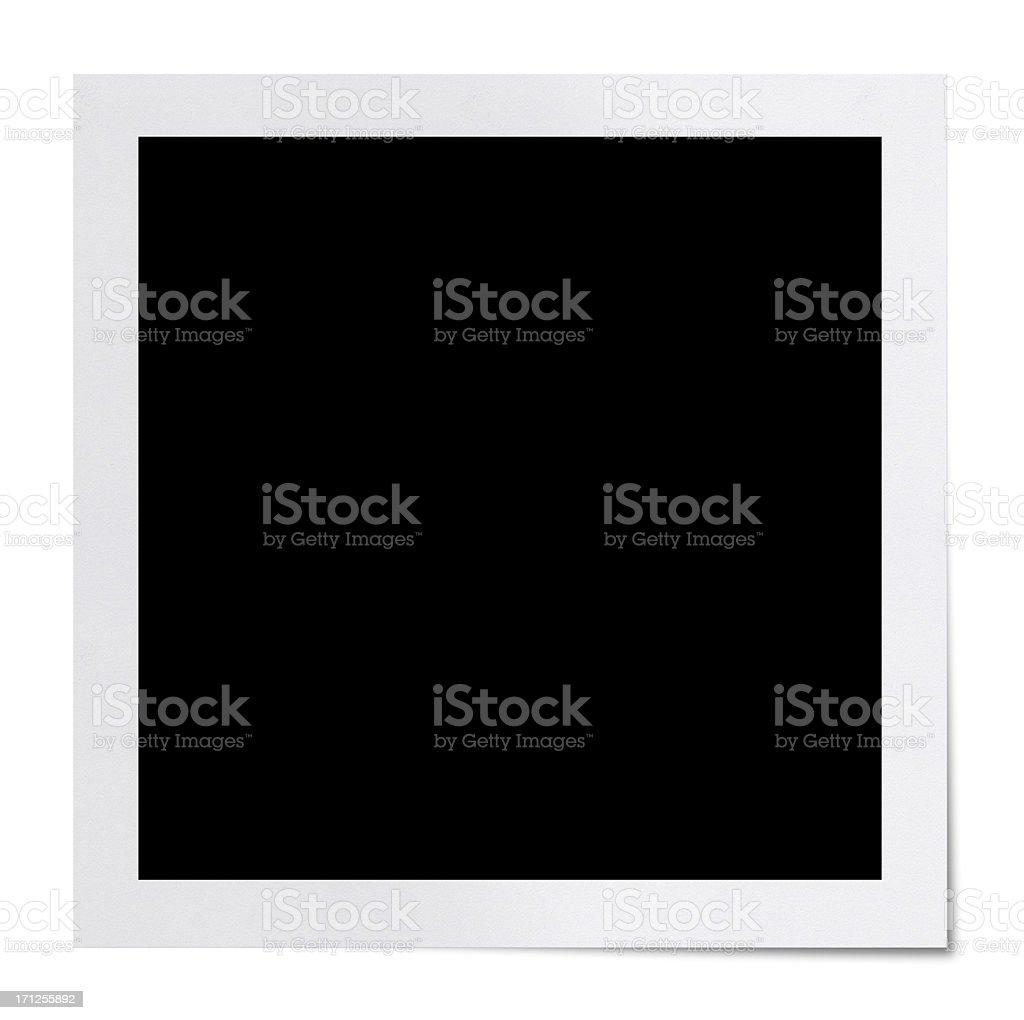 Blank Polaroid (Clipping Path) stock photo