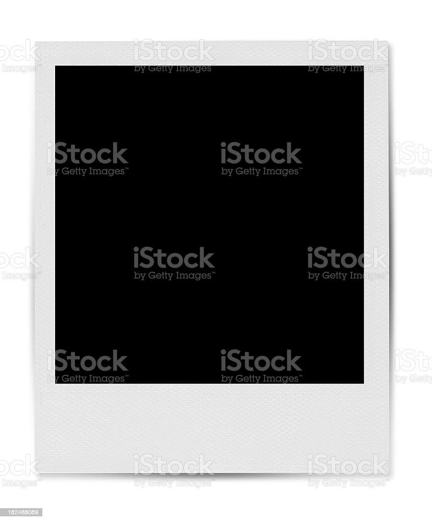 Blank Polaroid-style photo template stock photo