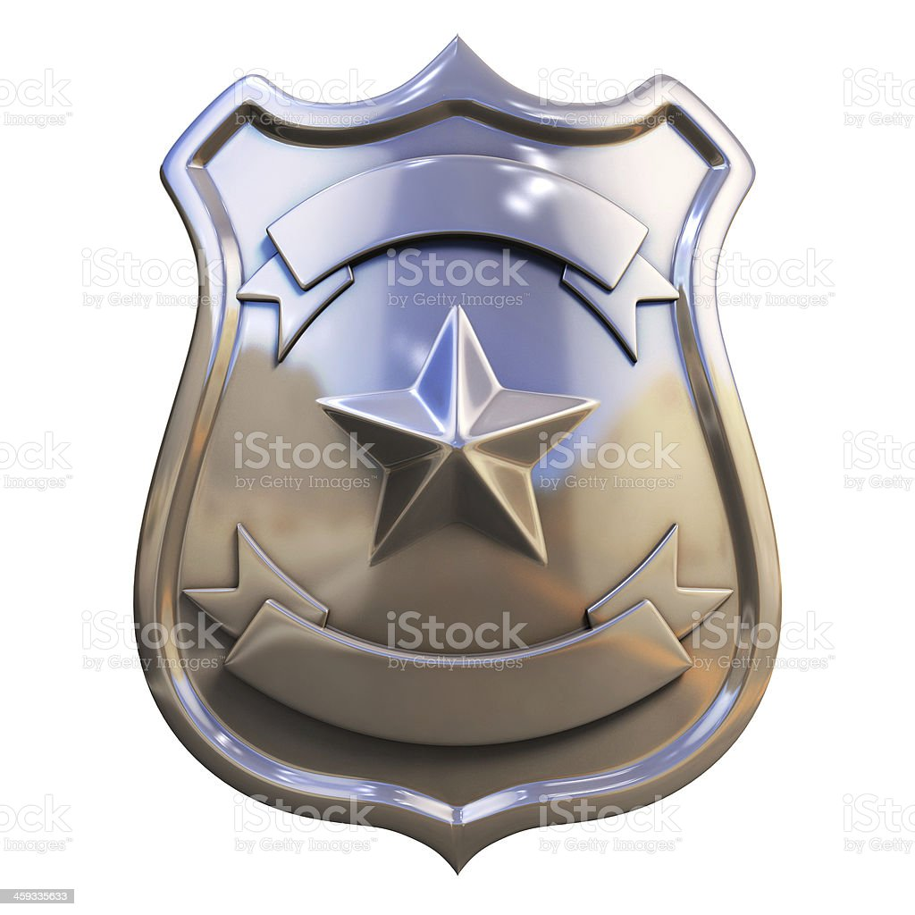 blank police badge stock photo