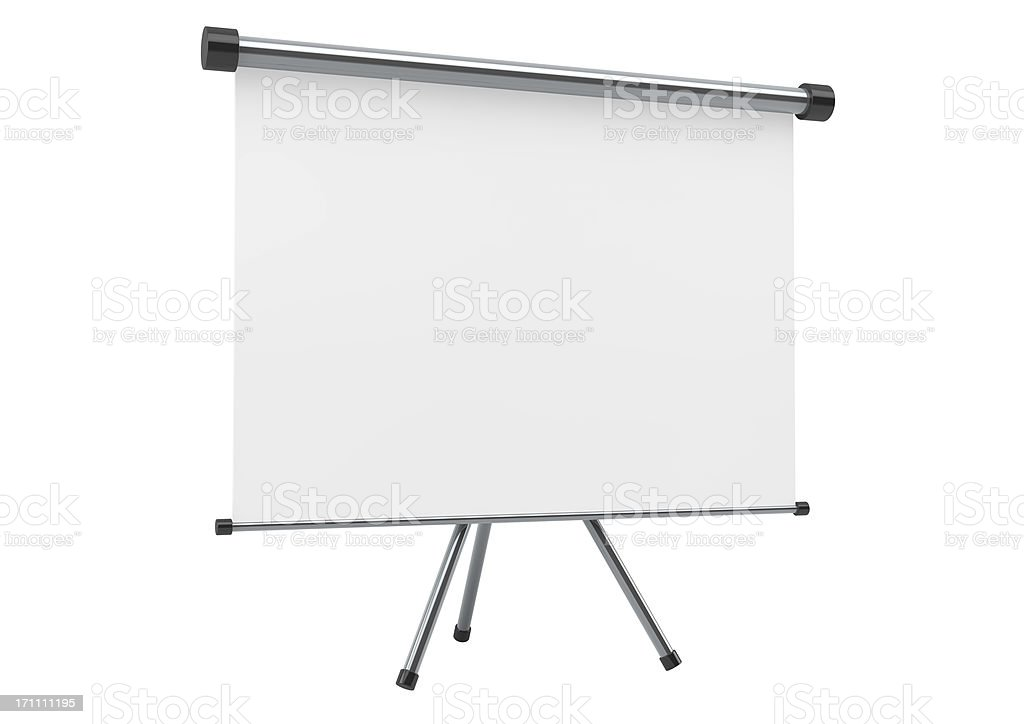 Blank portable projection scree stock photo