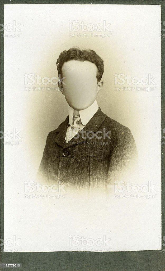 Blank portrait royalty-free stock photo
