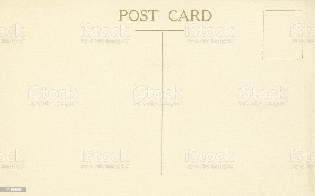 Blank post card royalty-free stock photo