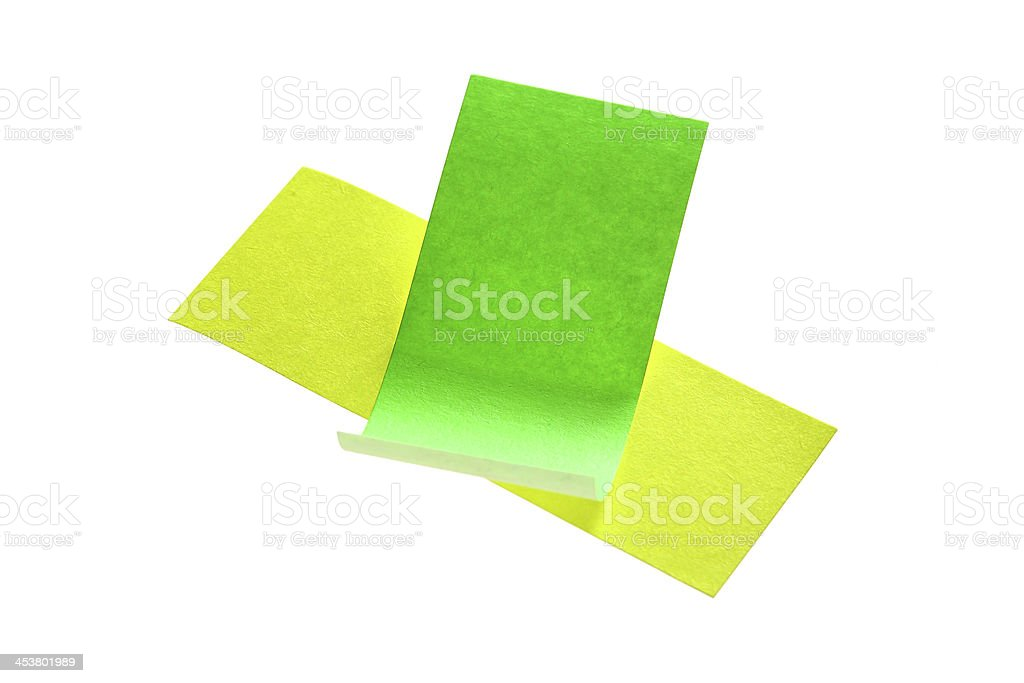 Blank post it notes on white royalty-free stock photo