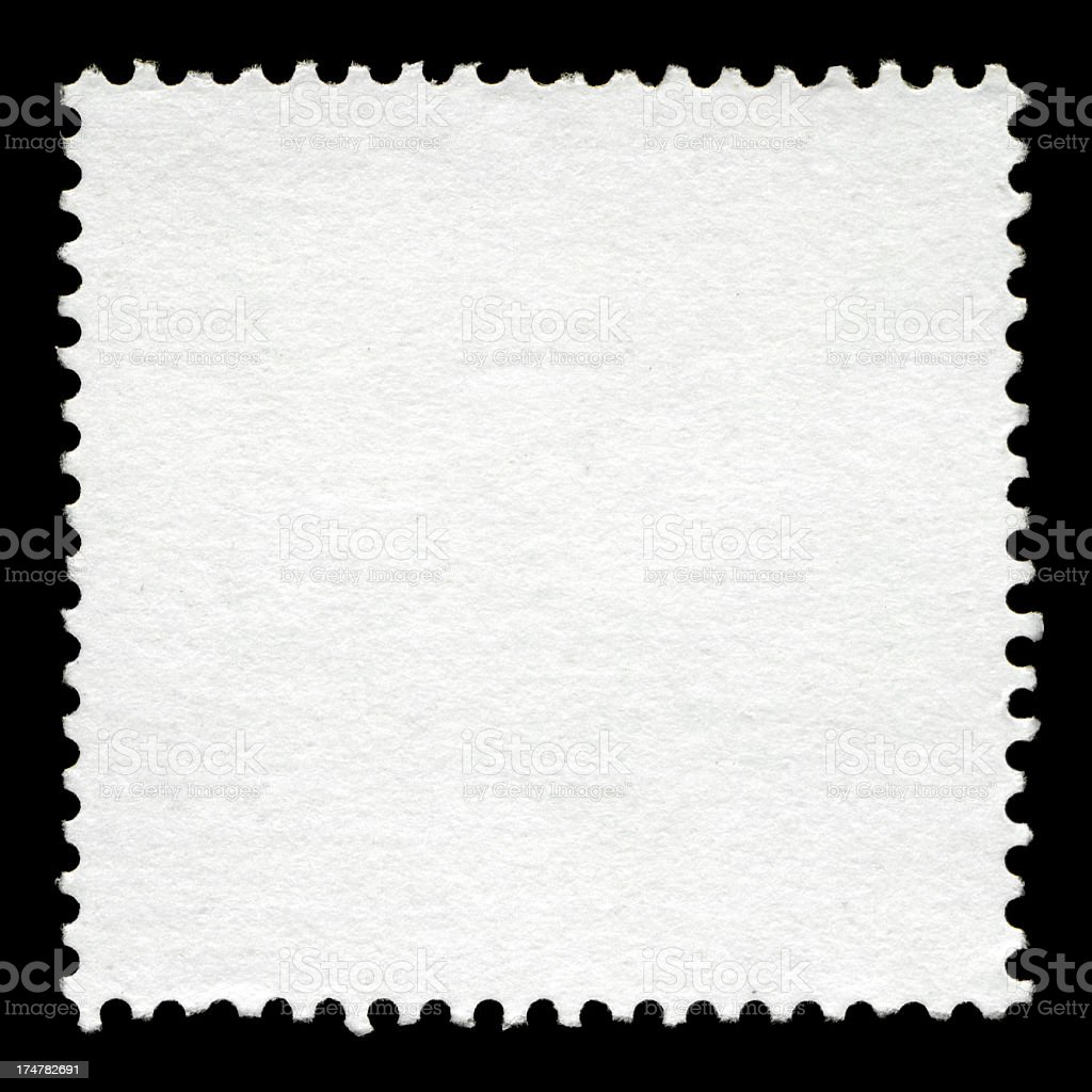 Blank postage stamp background textured stock photo
