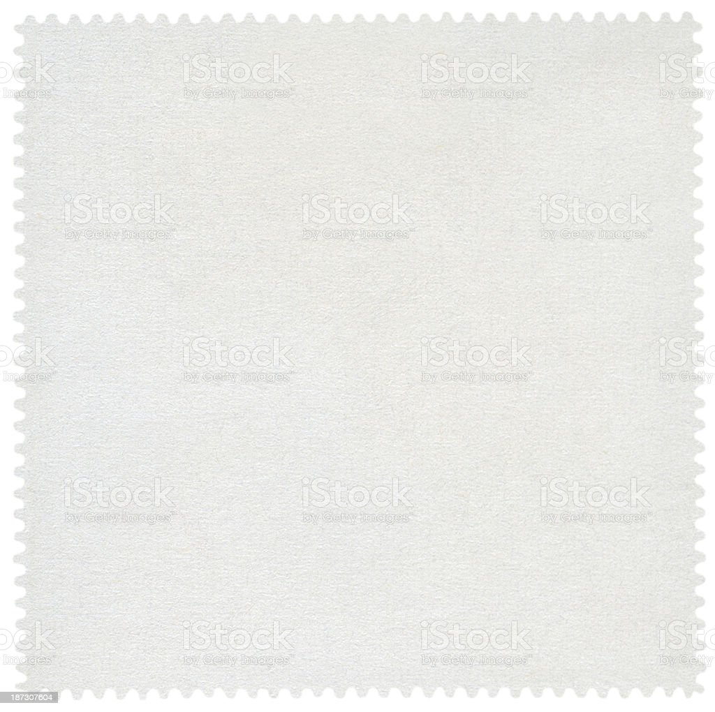 Blank Postage Stamp isolated (clipping path included) stock photo