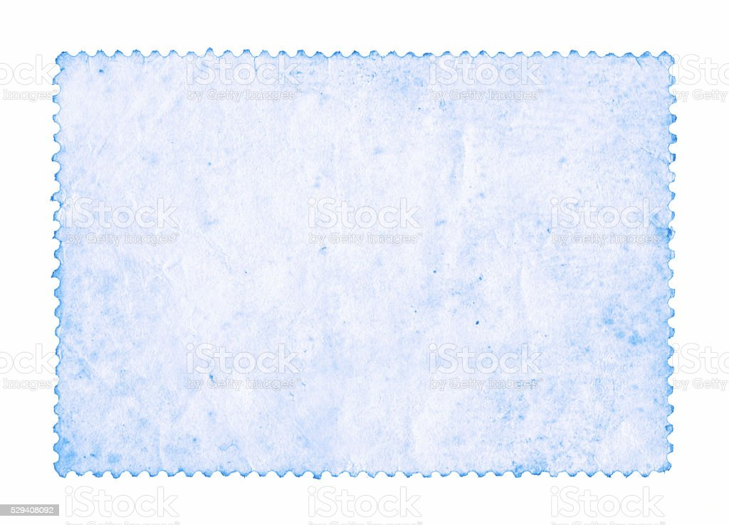 Blank postage stamp paper background textured isolated stock photo