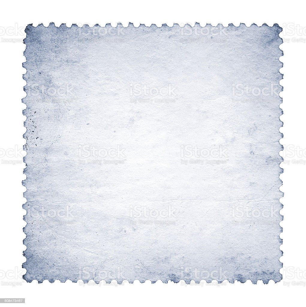 Blank postage stamp paper textured background isolated royalty-free stock photo