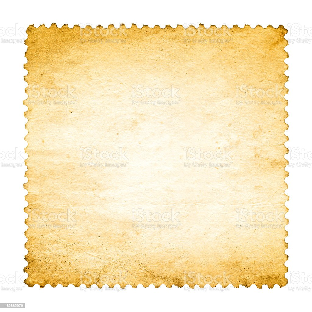 Blank postage stamp paper textured background royalty-free stock photo