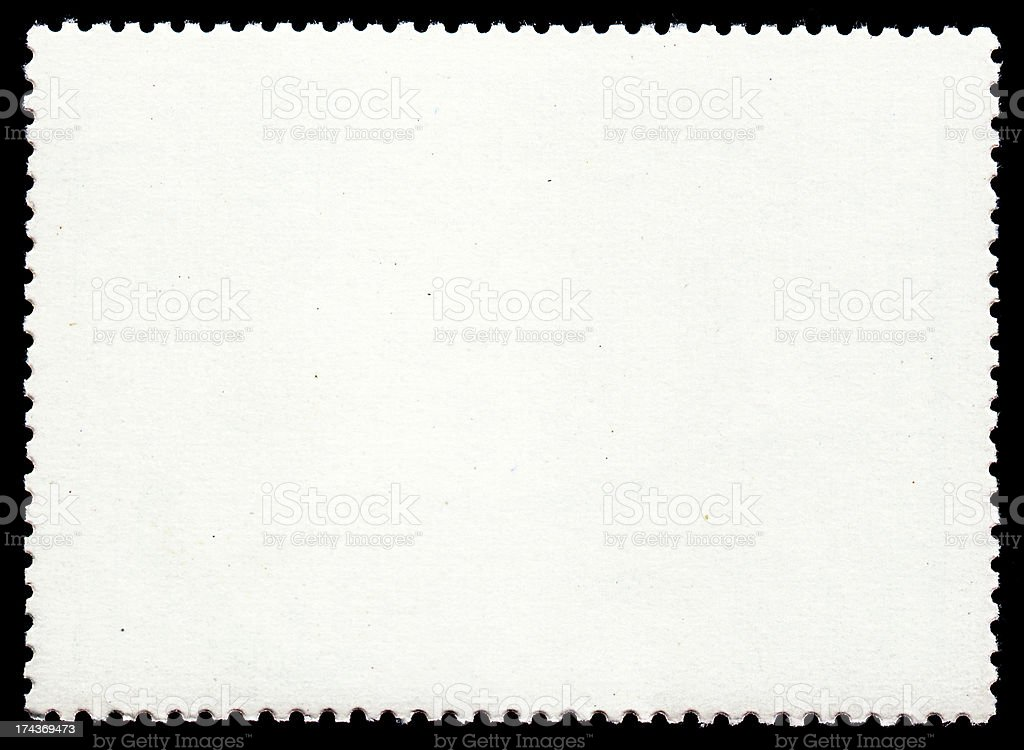Blank postage stamp stock photo